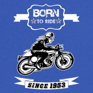 BORN TO RIDE SINCE 1953 - Men's V-Neck T-Shirt by Canvas