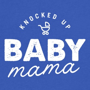 Knocked Up Baby Mama Tee - Men's V-Neck T-Shirt by Canvas