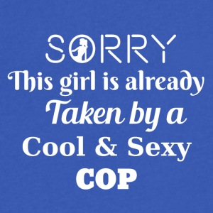 Sorry this girl is taken by a Cop - Men's V-Neck T-Shirt by Canvas