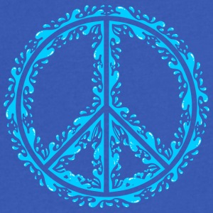 Liquid Peace Sign - Men's V-Neck T-Shirt by Canvas