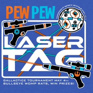 Pew Pew Laser Tag - Men's V-Neck T-Shirt by Canvas