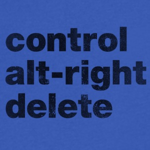 Control Alt-Right Delete Black - Men's V-Neck T-Shirt by Canvas