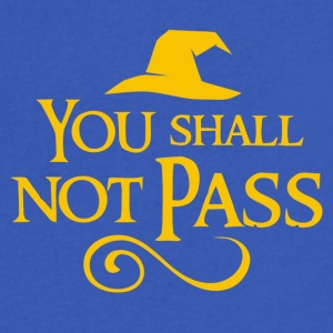You Shall Not Pass - Men's V-Neck T-Shirt by Canvas