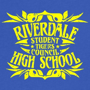 Riverdale Student Tigers Council High School - Men's V-Neck T-Shirt by Canvas