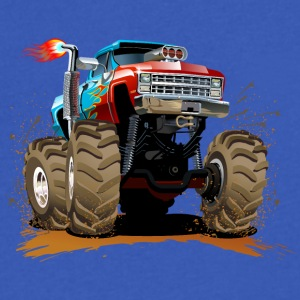 large Jeep SUV Monster Truck - Men's V-Neck T-Shirt by Canvas