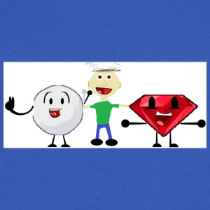 Snowball, me, and Ruby (I am a fan of BFDI!) - Men's V-Neck T-Shirt by Canvas
