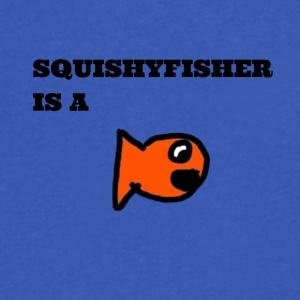 Squishyfisher is a fish! - Men's V-Neck T-Shirt by Canvas