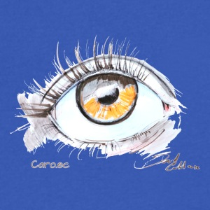 Caro.ec - Eye - Men's V-Neck T-Shirt by Canvas