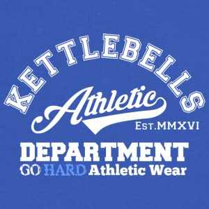 Kettlebell Athletic Department - Men's V-Neck T-Shirt by Canvas