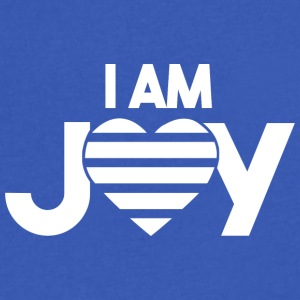 I AM JOY Affirmation - Men's V-Neck T-Shirt by Canvas