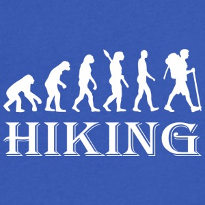Evolution Hike Hiking - Men's V-Neck T-Shirt by Canvas