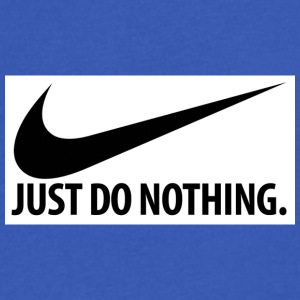Just Do Nothing - Men's V-Neck T-Shirt by Canvas