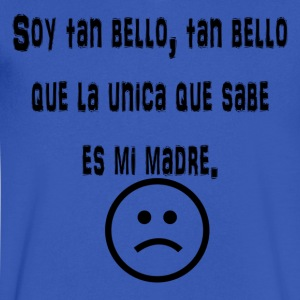 Soy tan Bello - Men's V-Neck T-Shirt by Canvas