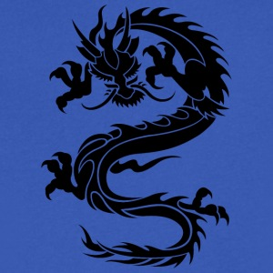 Dragon Tatoo - Men's V-Neck T-Shirt by Canvas