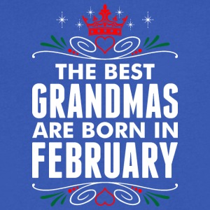 The Best Grandmas Are Born In February - Men's V-Neck T-Shirt by Canvas