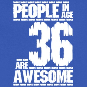 PEOPLE IN AGE 36 ARE AWESOME white - Men's V-Neck T-Shirt by Canvas