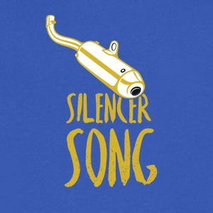 The song of silencer - Men's V-Neck T-Shirt by Canvas