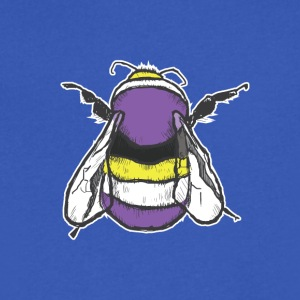 Non-binary Bee - Men's V-Neck T-Shirt by Canvas