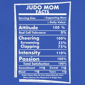 Judo Mom Facts Daily Values May Be Vary - Men's V-Neck T-Shirt by Canvas