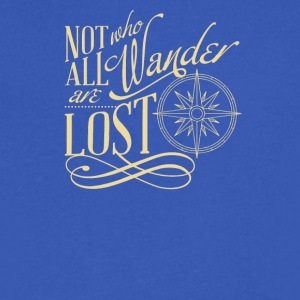 Not All Who Wander Are Los - Men's V-Neck T-Shirt by Canvas