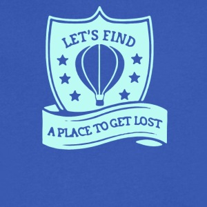 Let's find a place to get lost - Men's V-Neck T-Shirt by Canvas