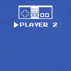 Player 1 or 2 - Men's V-Neck T-Shirt by Canvas