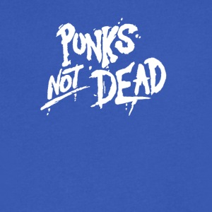 Punks Not Dead Exploited Punk Rock Vintage style - Men's V-Neck T-Shirt by Canvas