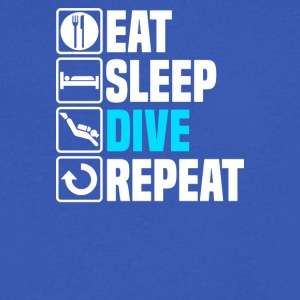 Eat Sleep Dive - Men's V-Neck T-Shirt by Canvas