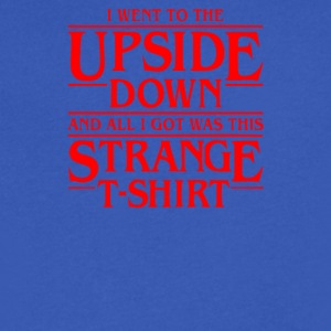 I Went to the Upside Down - Men's V-Neck T-Shirt by Canvas