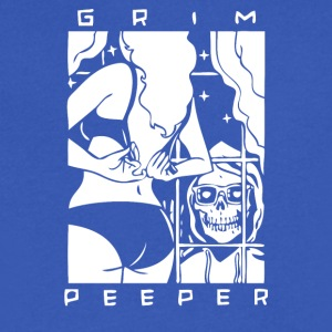 GRIM PEEPER - Men's V-Neck T-Shirt by Canvas
