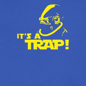 Admiral Ackbar IT S A TRAP Star Wars Funny - Men's V-Neck T-Shirt by Canvas