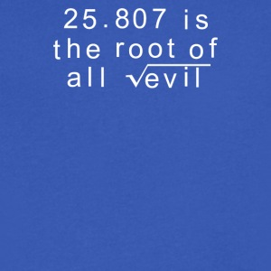 Maths 666 Root of all Evil - Men's V-Neck T-Shirt by Canvas