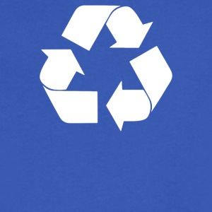 Recycle Symbol - Men's V-Neck T-Shirt by Canvas