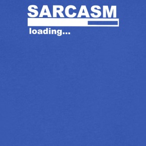 Sarcasm Funny Comic Technology Laugh - Men's V-Neck T-Shirt by Canvas
