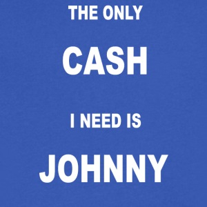 THE ONLY CASH I NEED IS JOHNNY - Men's V-Neck T-Shirt by Canvas
