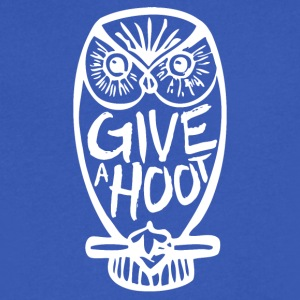 Give A Hoot - Men's V-Neck T-Shirt by Canvas