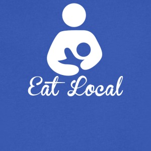 Eat Local - Men's V-Neck T-Shirt by Canvas
