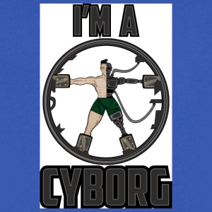 cyborg - Men's V-Neck T-Shirt by Canvas