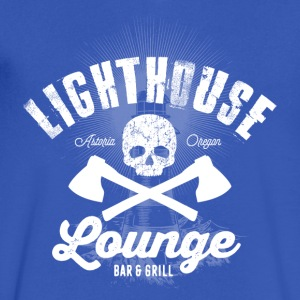 Lighthouse Lounge - Men's V-Neck T-Shirt by Canvas