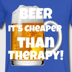 Beer Cheaper Than Therapy! - Men's V-Neck T-Shirt by Canvas