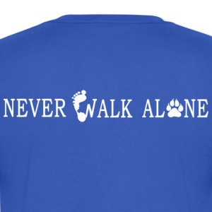 NEVER, WALK ALONE - Men's V-Neck T-Shirt by Canvas