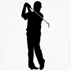 Golf player - Men's V-Neck T-Shirt by Canvas