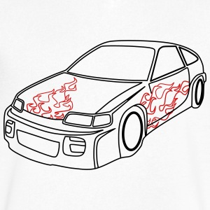 Sportcar - Men's V-Neck T-Shirt by Canvas