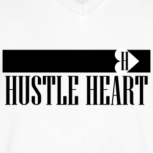 Hustle Heart - Men's V-Neck T-Shirt by Canvas