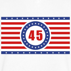 USA Flag 45 Horizontal - Men's V-Neck T-Shirt by Canvas