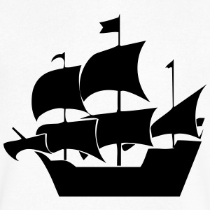 Pirate ship - Men's V-Neck T-Shirt by Canvas