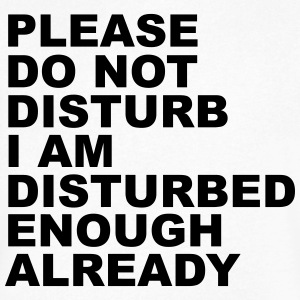 Please Do Not Disturb - Men's V-Neck T-Shirt by Canvas