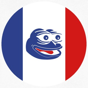 French Pepe the Frog Round - Men's V-Neck T-Shirt by Canvas