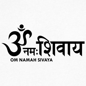 Om Namah Sivaya A - Men's V-Neck T-Shirt by Canvas