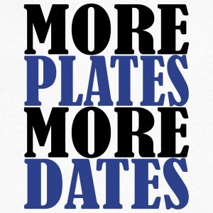 More Plates More Dates - Men's V-Neck T-Shirt by Canvas